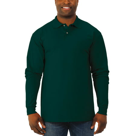 Jerzees Men's Spotshield Long Sleeve Polo Shirt State Long Sleeve Polo
