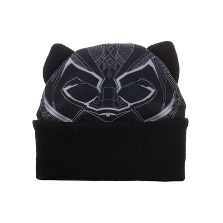 Black Panther Big Face Beanie Costume Superhero Gift Marvel Chadwick Boseman (Marvel Superheroes Costume)