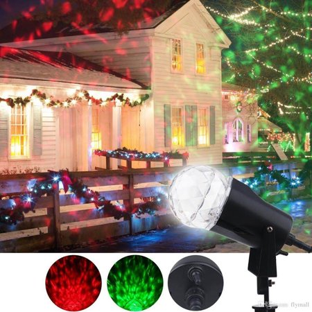 6 Pack Kaleidoscope Projector Spot Lights, Outdoor LED Rotating Light Show Crystal Ball Fire and Ice Flame Projector Waterproof for Halloween Christmas Garden Party Landscape Holiday, Red and Green for $<!---->