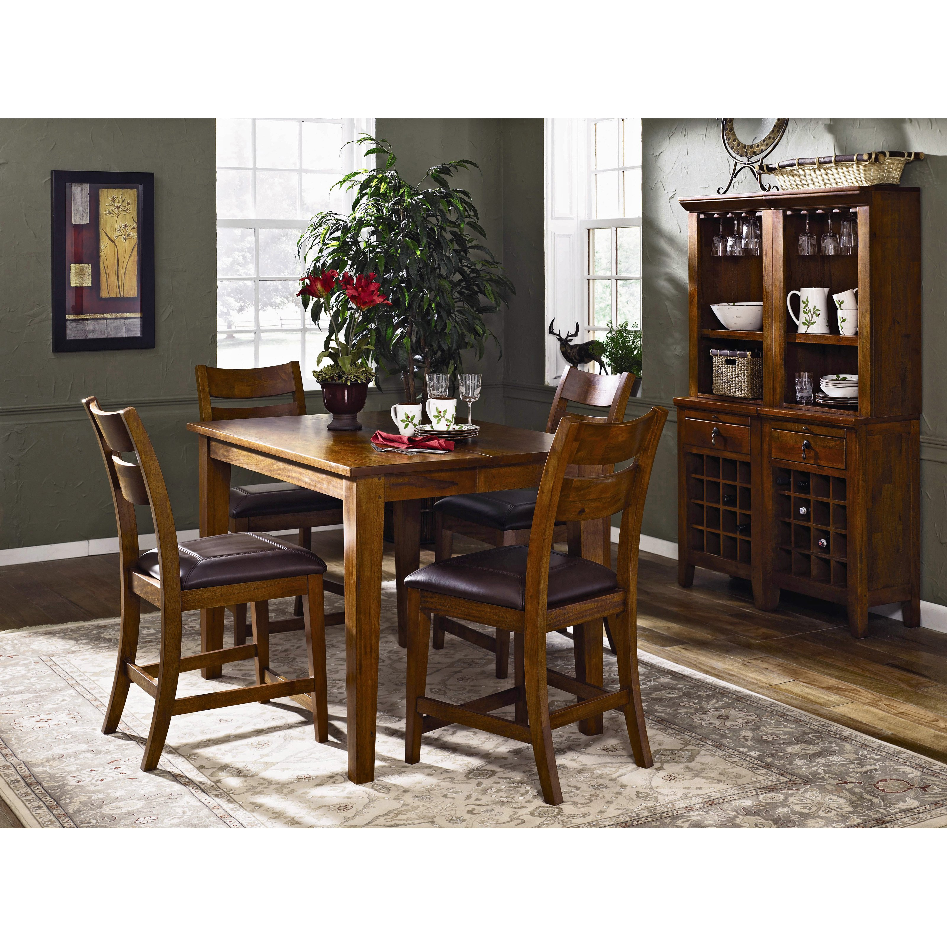 klaussner urban craftsman counter height dining table - walmart