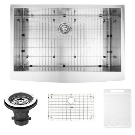 VIGO 36\'\' x 22\'\' Farmhouse Kitchen Sink with Sink Grid - Walmart.com