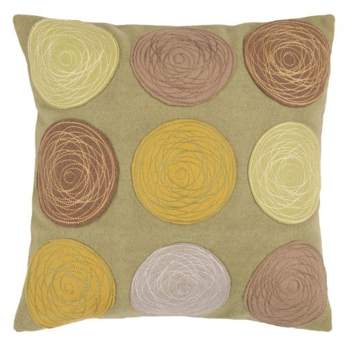 Surya Globes Citrus Decorative Pillow - Camel