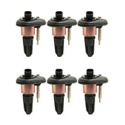 Set of 6 Ignition Coils Compatible with 2002-2005 Chevrolet Trailblazer 4.2L V6 Replacement for UF303 C1395