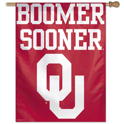 """Oklahoma Sooners Official NCAA 27"""" x 37"""" Flag Banner 27x37 by Wincraft 269911"""
