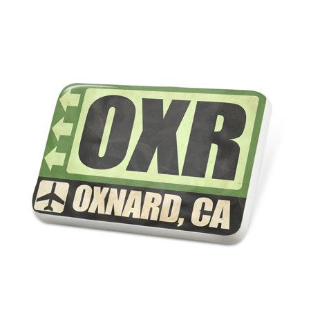 Porcelein Pin Airportcode OXR Oxnard, CA Lapel Badge – NEONBLOND