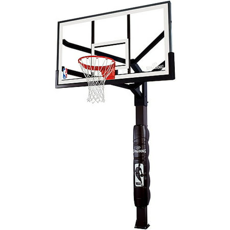 """Spalding NBA 60"""" Glass Arena View H Series In-Ground Hoop System"""