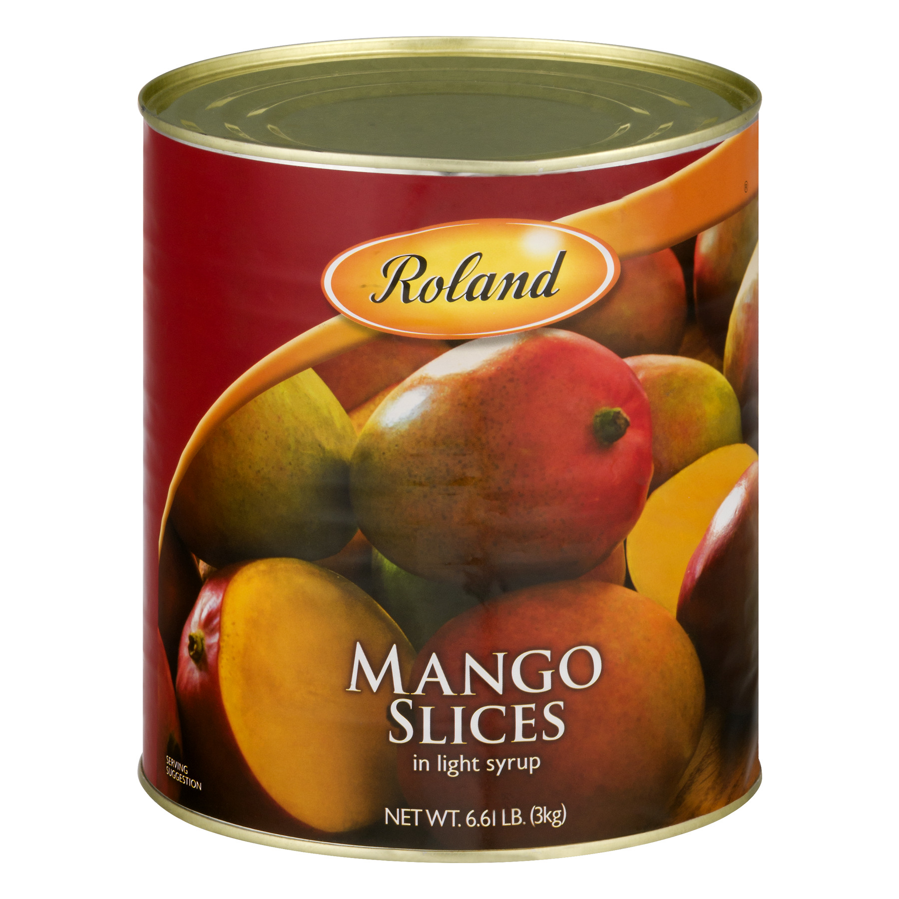 Roland Mango Slices In Light Syrup, 112.0 OZ