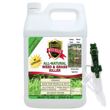 Natural Armor Weed & Grass Killer All-Natural Concentrated Formula. Contains No Glyphosate. 128-Ounce