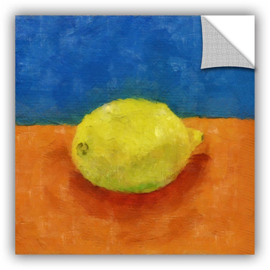 "ArtWall Kevin Calkins ""Lemon with Blue and Orange"" ArtAppealz Removable Wall Art"