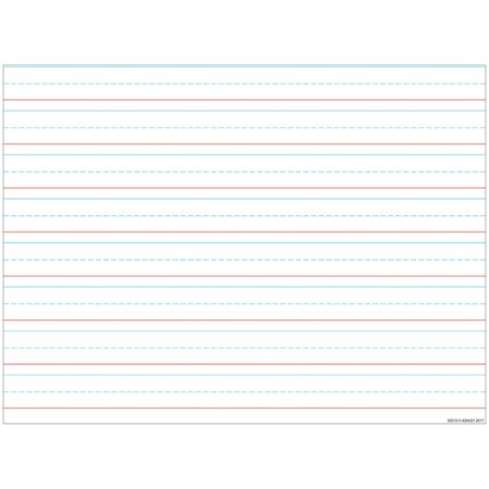 HANDWRITING 3/4 LINED 17X22 SMART POLY CHART (Chart Paper Color)