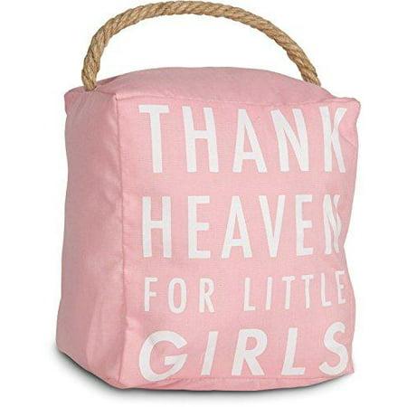 pavilion gift company open door decor - thank heaven for little girls pink door stopper baby room decoration