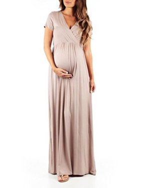 10eb560716c8d Product Image Maternity Casual Long Dress Pregnant Pregnancy Women  Photography Prop Maxi Gown V neck Loose Summer Short