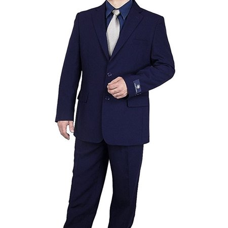 Vittorio Mens Two Button Single Breast Dress Suit
