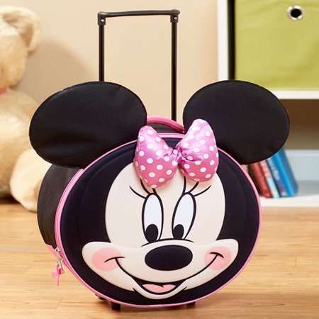 The Lakeside Collection Kids' Molded Minnie Mouse Luggage (Minnie Mouse Luggage)