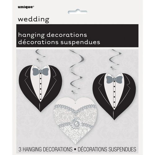 "32"" Hanging Heart Wedding Decorations, 3-Count"
