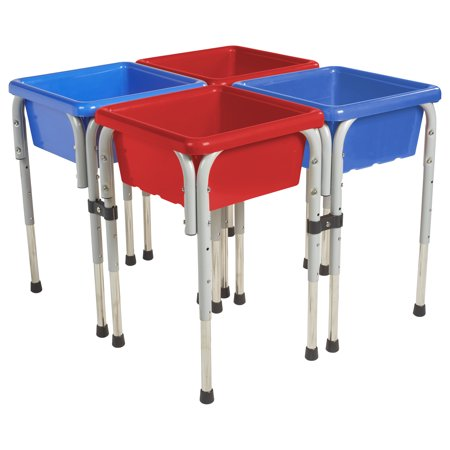 4 Station Square Sand Water Table With Lids
