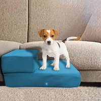 Gobestart Breathable Mesh Foldable Pet Stair Detachable Pet Bed Ramp 2 Level Ladder