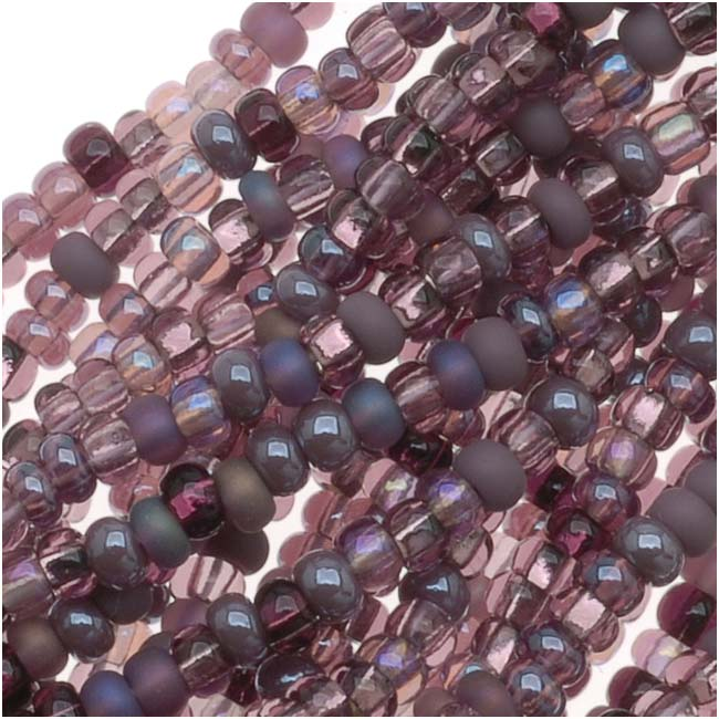 Czech Seed Beads 11/0 ''Purple Passion'' Mix (1 Hank/4000 Beads)