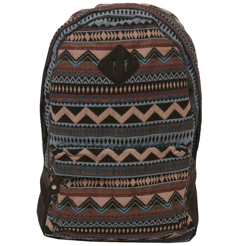 Cutie Patootie Girls Pastel Tribal Geometric Pattern Jacquard Weave Backpack
