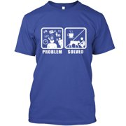 Problem Solved Cows and Coffee Hanes Tagless Tee T-Shirt