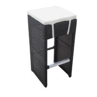 Hampton Woven Wicker Outdoor Chair/Bar Stool - Espresso