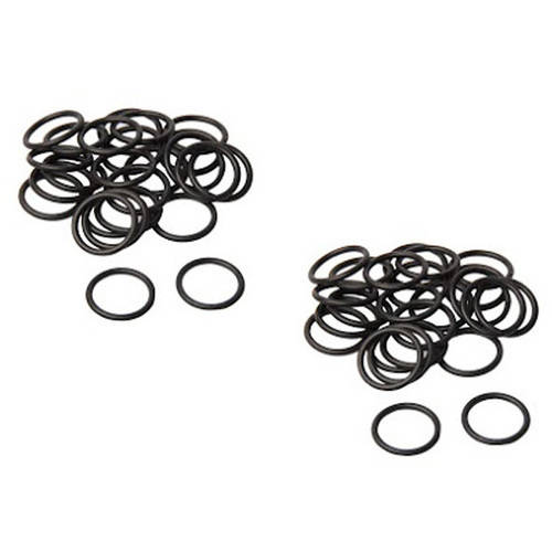 Aleko Paintball Regulator Tank and Valve Rubber O Rings CO2 and Air Tank Rings, Black, 50pcs