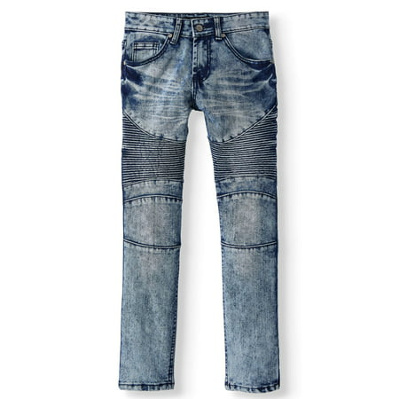 Youth 5 Pocket Jeans - Sovereign State 5 Pocket Stretch Moto Jean (Big Boys)