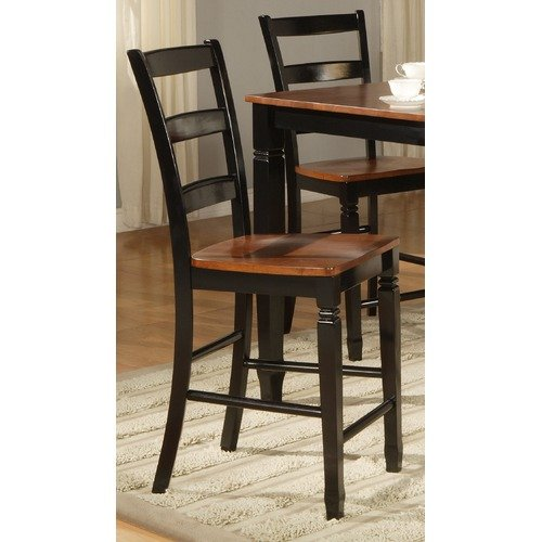 Standard Furniture Brentwood Bar Stool in Honey and Black (Set of 2)