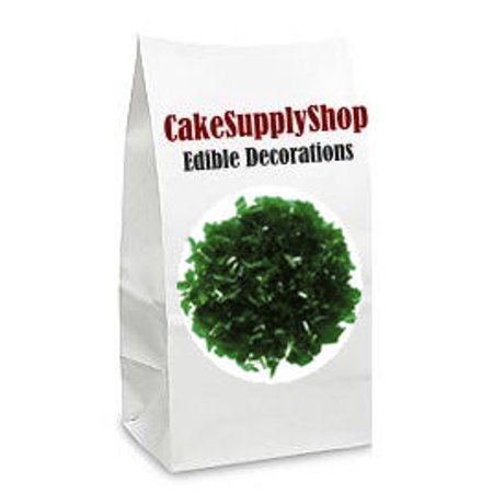 Green Cake & Cupcake Decoration Sparkle Flakes Sprinkles - Dark Sparkle