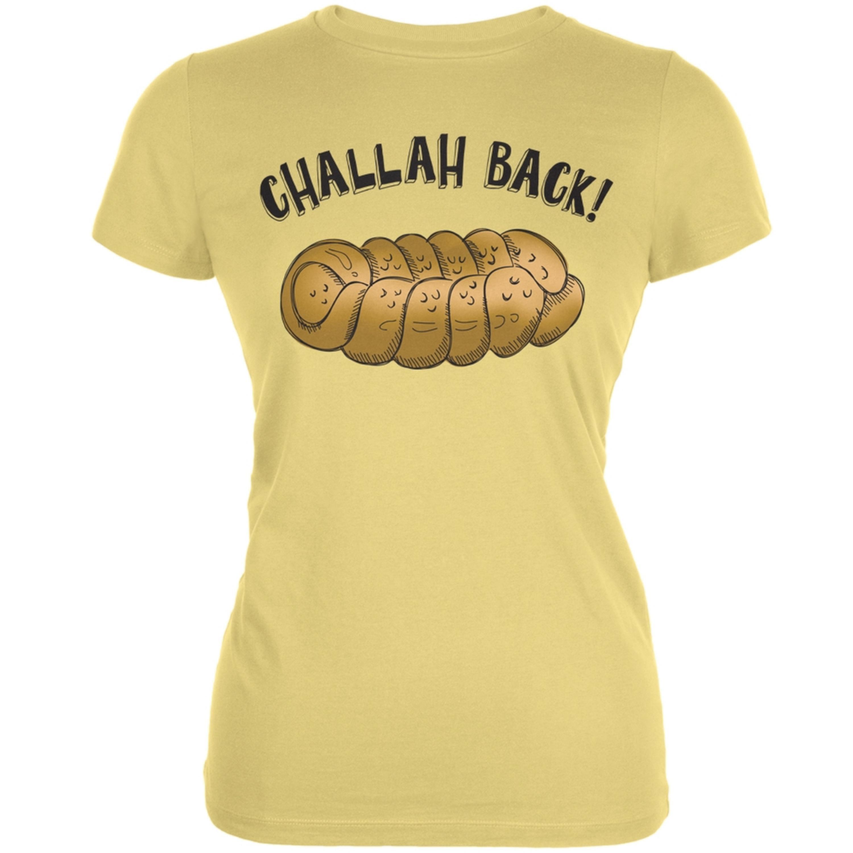 Challah Back Yellow Juniors Soft T-Shirt by
