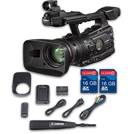 Canon XF300 HD Professional Camcorder + 2 PC 16 GB Memory Cards + All Manufacturer Accessories - International Version Gigabyte Pc Card Memory
