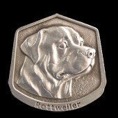 Rottweiler Fine Pewter Dog Breed Ornament The sculpted image of your pet is surrounded with a wreath of holly and ivy. You will treasure this ornament for years to come. hey are made of Fine Pewter and come in a Christmas gift box for storing. Lindsay Claire is a Canadian manufacturer of Fine Pewter Gifts and Collectibles.  Each pewter item is cast in our shop from fine pewter and meticulously hand polished to a satin finish.Ornament is approximately 3  and has a satin cord attached for hanging.