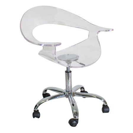 Admirable Rumor Contemporary Adjustable Office Chair With Swivel In Clear Acrylic By Lumisource Spiritservingveterans Wood Chair Design Ideas Spiritservingveteransorg