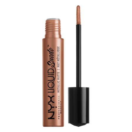 NYX Professional Makeup Liquid Suede Metallic Matte Cream Lipstick, Exposed