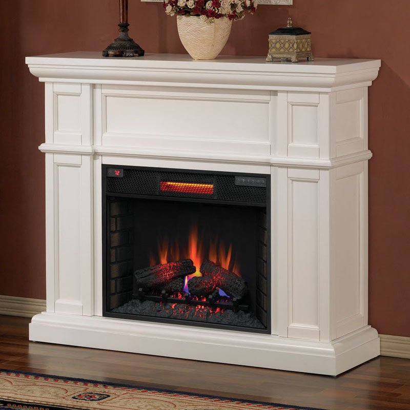 Classic Flame Artesian Infrared Fireplace Mantel - White