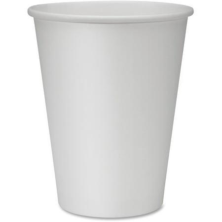 Genuine Joe Hot Cups,  Single,  12oz.,  1000/CT,  White - GJO19047CT
