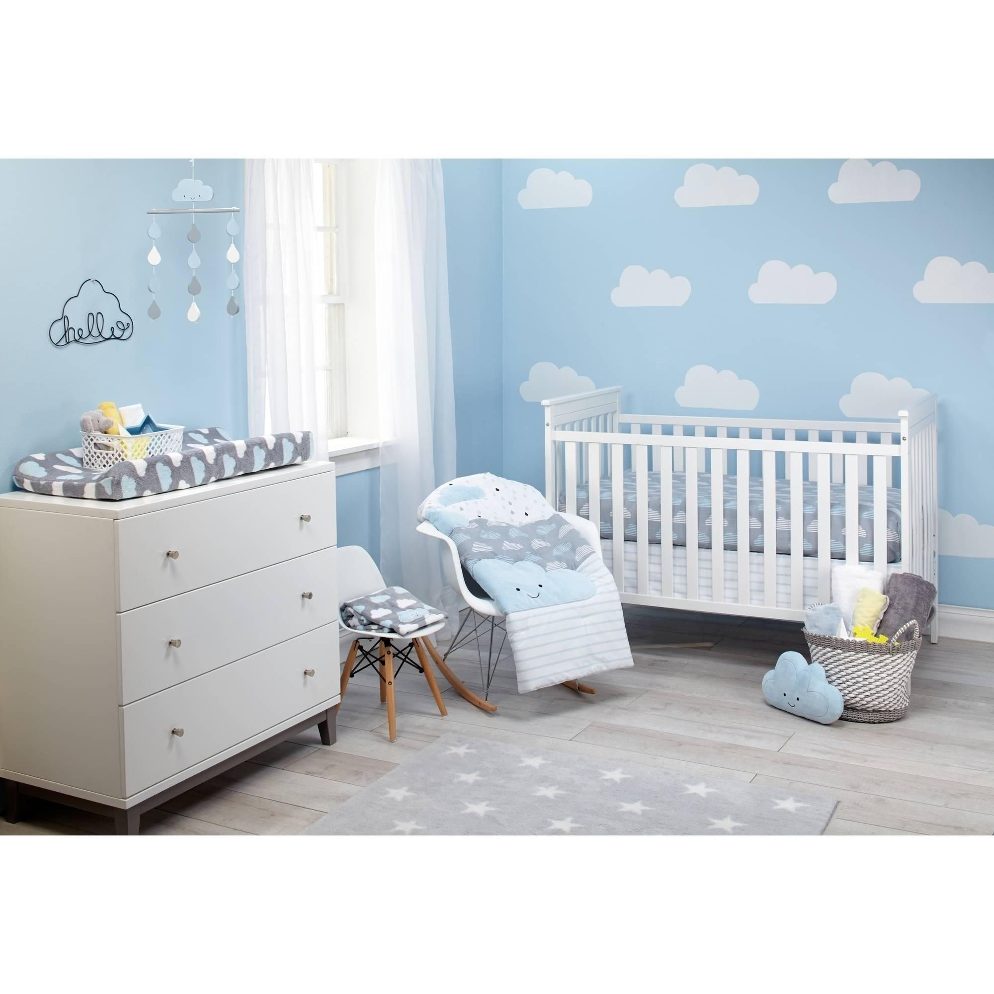 Little Love Happy Clouds 5pc Crib Set