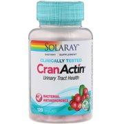 Solaray Cranactin Cranberry AF Extract Capsules, 400 mg, 120 Count