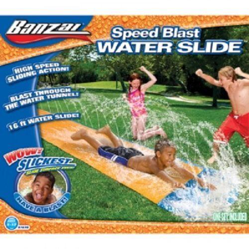 Kids Summer Fun Backyard Fun Banzai Waterslide Inflatable Play Center Summer Outdoor Pool Fun Swimming by Banzai