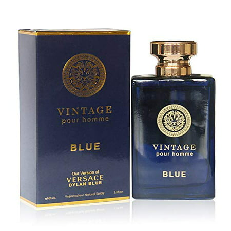 VINTAGE BLUE Perfume, 3.4 fl.oz. Eau de Parfum Spray for Men, Perfect Gift by Secret Plus