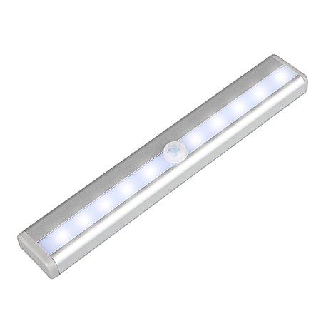 Tsv 10 Led Motion Sensor Light Battery Powered Stick Anywhere Night