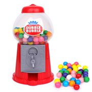 """Gumball Machine 8.5"""" Coin Operated Toy Bank Dubble Bubble Classic Style Includes 45 Gum Balls - Kids Coin Bank Great Gift for Boys & Girls and Carnival Parties, Giveaways, Fun Party"""