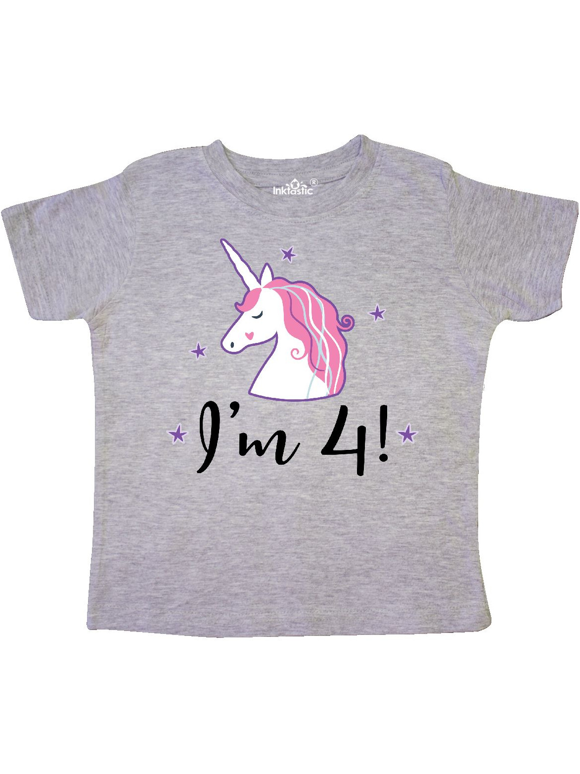 4th Birthday Girls Cute Unicorn Toddler T-Shirt