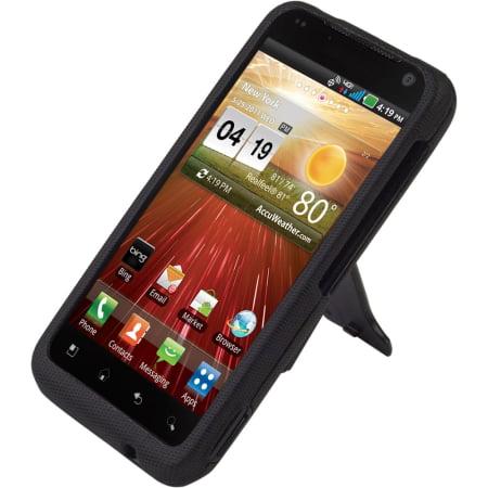 Body Glove Flex Snap-On Case for LG Revolution VS910 with Kickstand (Black)