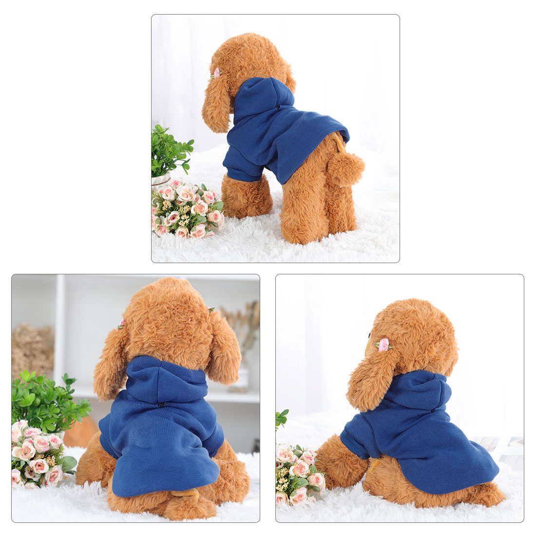 Cotton Dog Winter/Spring/Fall Sweatshirt Hoody Pet Clothes Warm Coat Blue M - image 5 of 7