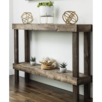 Rustic Luxe Small Wooden Sofa Table by Del Hutson Designs, Multiple Colors