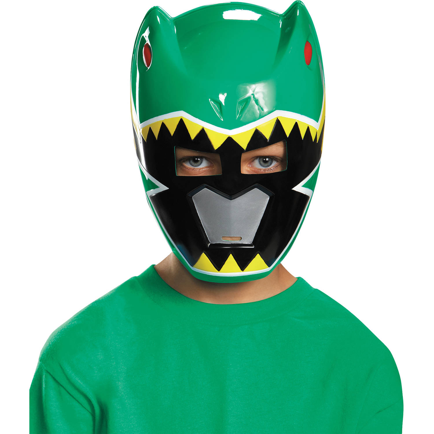 Green Ranger Dino Charge Mask Child Halloween Accessory