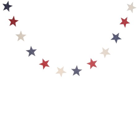 KABOER 4th of July Independence Day Banner American Glitter Star Hanging Decorations - Red Orchid White Pentagram Lahua](Banner 4th Of July)