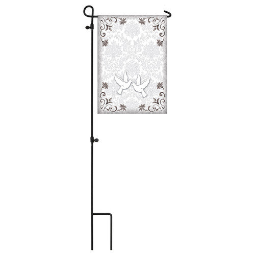 Garden Size Silk Reflections Flag, signables Wedding, 12.5x18 Inches