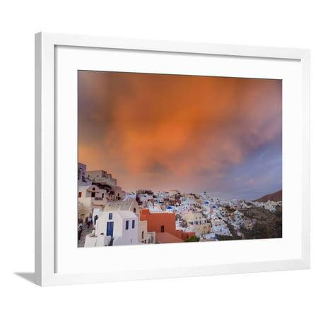 Sunset, Oia, Santorini, Greece Framed Print Wall Art By Adam